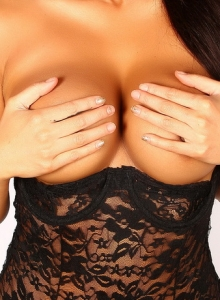 Justene Jaro Shows Off Her Big Tits In A Black Lace Outfit - Picture 11