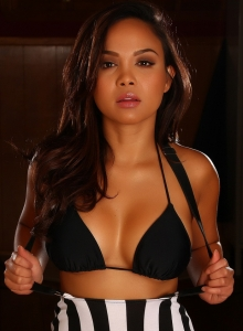 Dawn Jaro Teases In A Black String Bikini With A Tight Little Dress - Picture 7