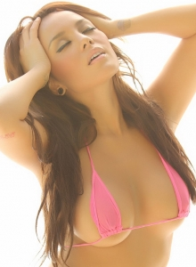 Angelic Busty Babe Justene Jaro Shows Off In A Very Skimpy String Bikini - Picture 8